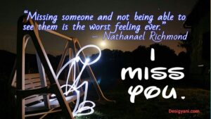I Miss you Cute Romantic Quotes/Messages and HD Images for him and her DesiGyani